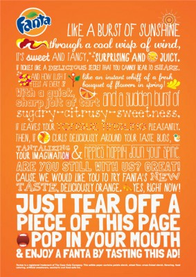 fanta ad that is tasteable