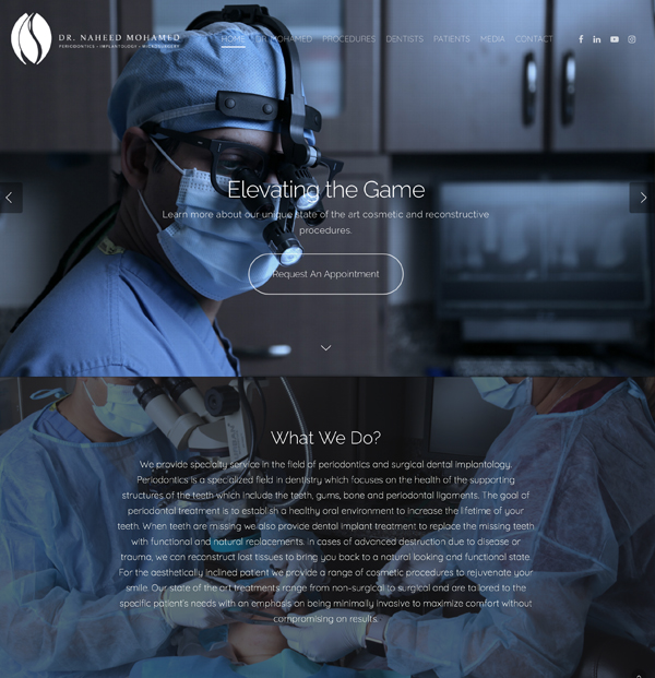 Website Development for Dentists