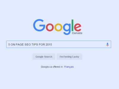 5 On-Page SEO tips in 2015