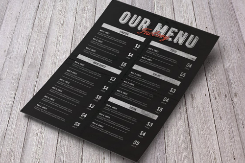 Custom Menu Design Toronto