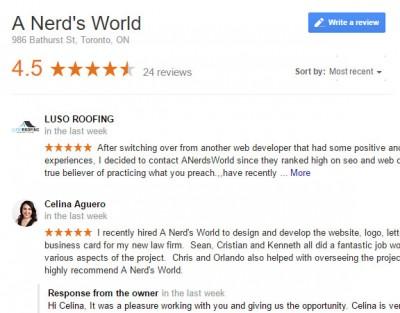 Google Reviews - A Nerd's World