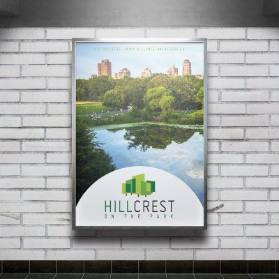 34222045 - white big vertical poster on metro station