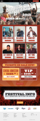 Boots and Hearts website design by A Nerd's World