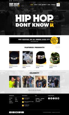 Hip Hop Website Design