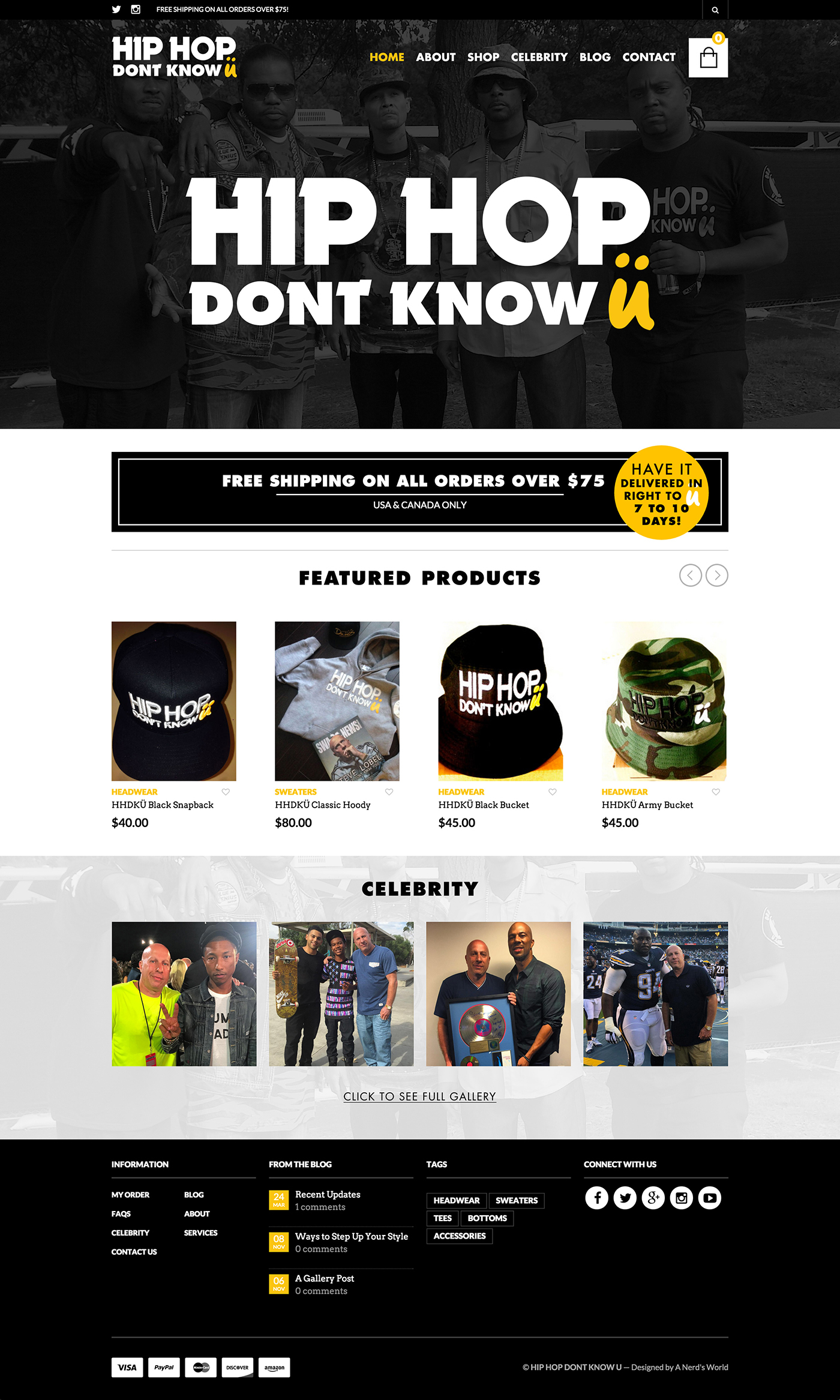 Hip Hop Website Design