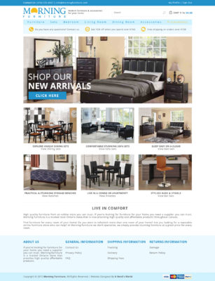 Furniture Website Design Toronto