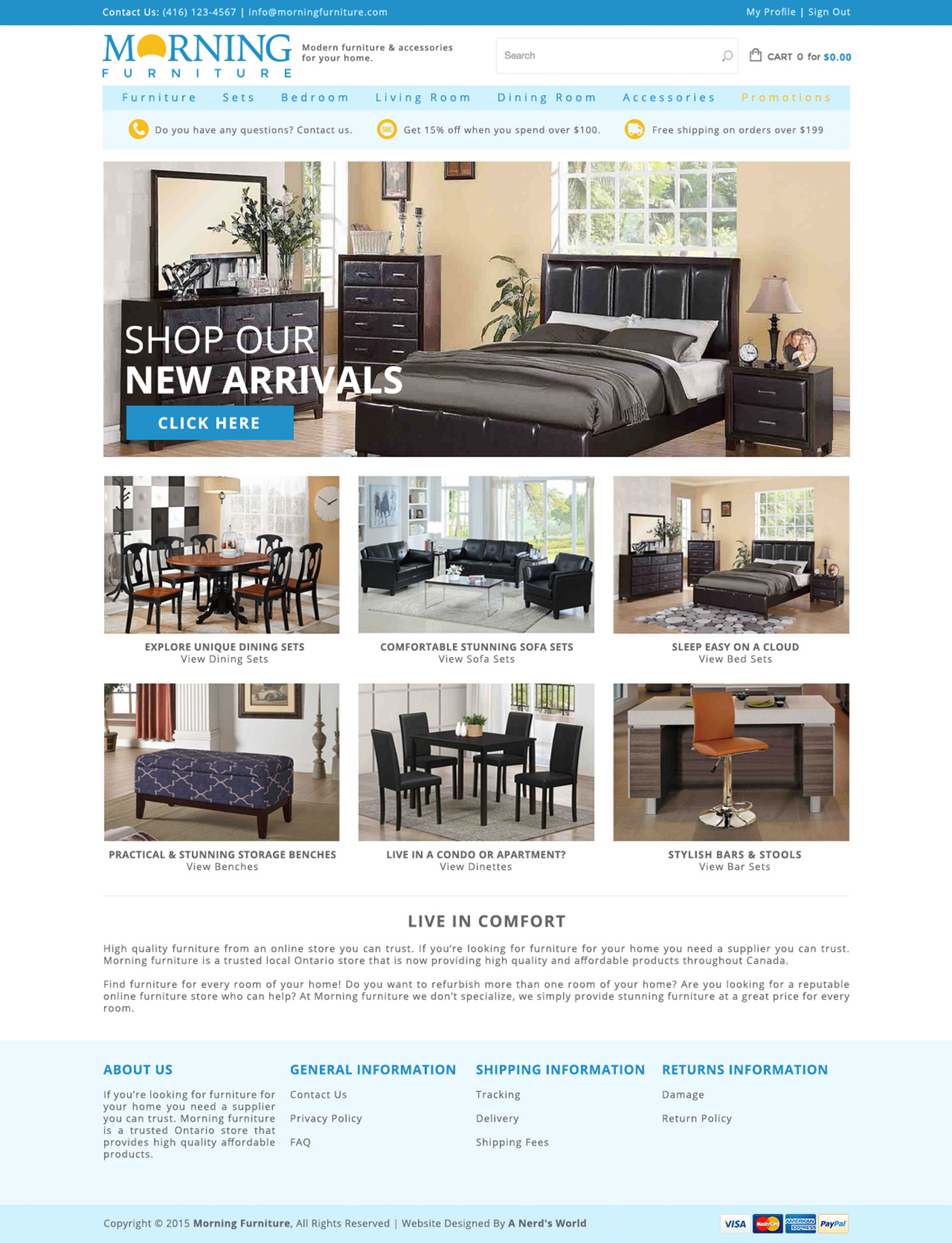 Furniture Website Design Toronto