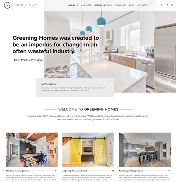 website-portfolio-greening