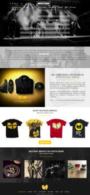 Wu Tang Clan Website Design