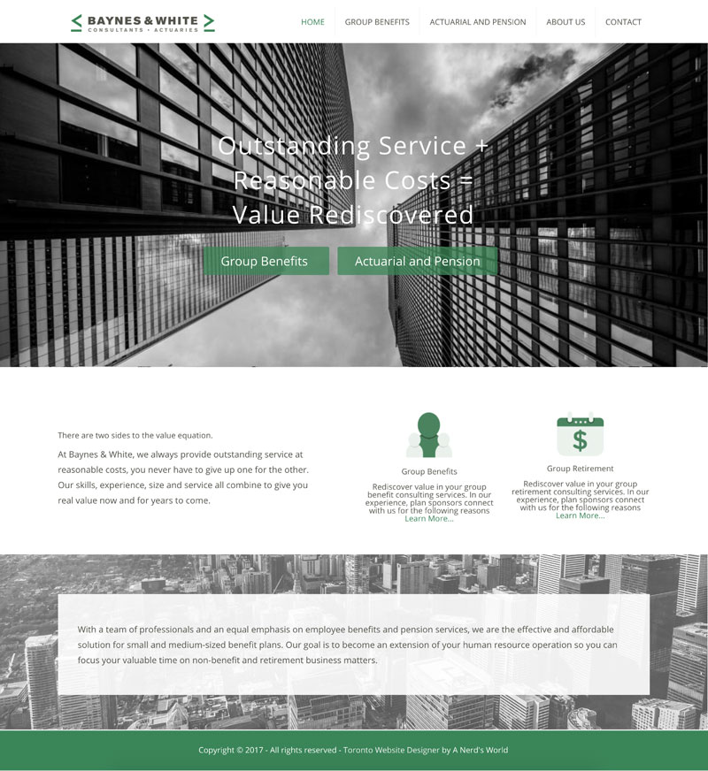 Toronto website design a nerd 39 s world for Design consulting toronto